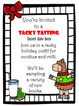 Holiday Tacky Tasting Book-Tasting Invitation
