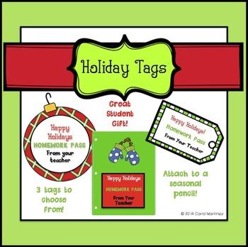 Holiday Tags {No Homework}