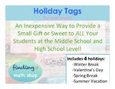 Holiday Tags for Small Treats!