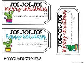 Holiday Tags for Trader Joe-Joe's