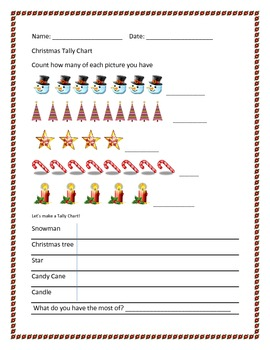 Holiday Tally Chart