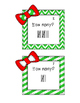 Holiday Tally Marks Freebie