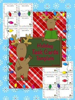 Holiday Task Cards / Flashcard Template (Form A)