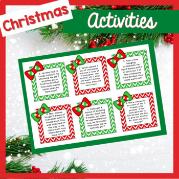 Holiday Task Cards - Two Step Math Problems