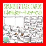 48 Holiday Task Cards for Spanish 2 Review