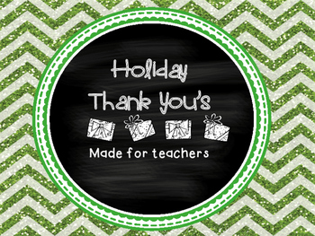 Holiday Teacher Thank You's