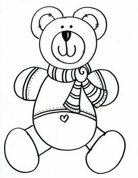 Cute Teddy with Scarf