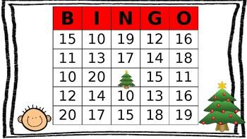 Holiday Teen Number Bingo (10-20)