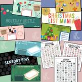 Holiday Teletherapy Bundle- Sensory, Handwriting, Typing,