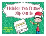 Holiday Ten Frame Clip Cards