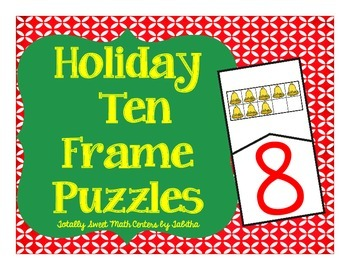 Holiday Ten Frame Clip Cards