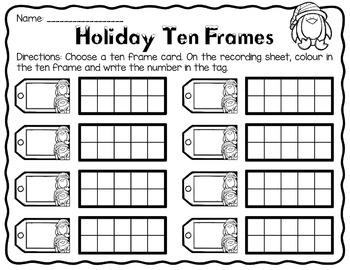 Holiday Ten Frame Freebie