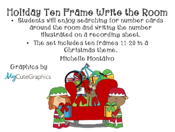 Holiday Ten Frame Write the Room