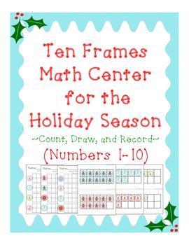 Holiday Ten Frames Activity