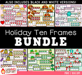 Holiday Ten Frames Clip Art Bundle