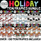 Holiday Ten Frames Clip Art Bundle {Holiday Clip Art}