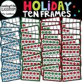Holiday Ten Frames Clip Art {Christmas Clip Art}