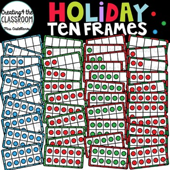 Holiday Ten Frames Clip Art {Christmas Clip Art}