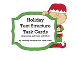 Holiday Text Structure Task Cards
