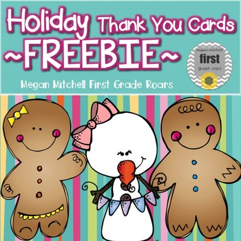 Holiday Thank You Cards...Freebie