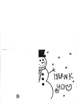 Holiday Thank You Card