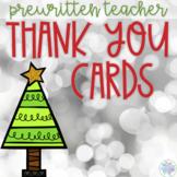 Holiday Thank You Card FREEBIE