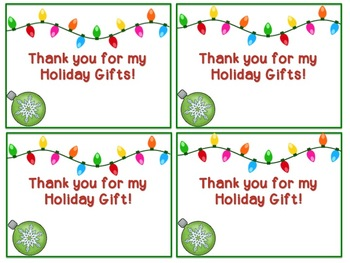 """Holiday """"Thank You"""" Cards"""