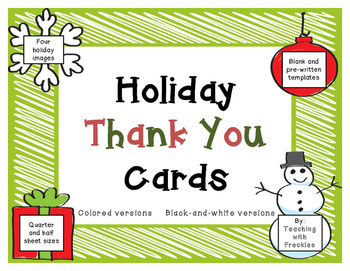 holiday thank you cards christmas winter holiday note card templates