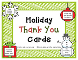 Holiday Thank You Cards (Christmas, Winter, Holiday Note C