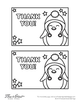 Holiday Thank You Cards Coloring Page