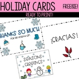 Holiday Thank You Cards- FREEBIE