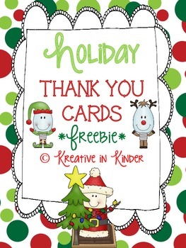 Holiday Thank You Cards Freebie