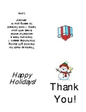 Holiday Thank You Note