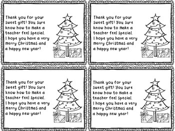 Holiday Thank You Notes By The Busy Class Teachers Pay Teachers