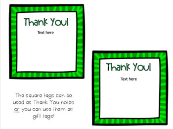 Holiday Thank You Notes (Fully Editable!)