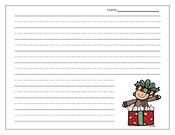 Holiday Thematic Writing Paper