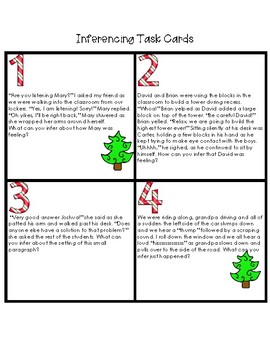 Holiday Theme: Inference Task Cards