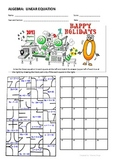 Holiday Theme Linear Equation Puzzle Activity
