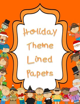 Holiday Theme Lined Papers