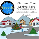 Holiday Theme Minimal Pairs: t/k and d/g