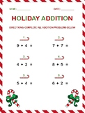 Holiday Themed Addition Worksheet