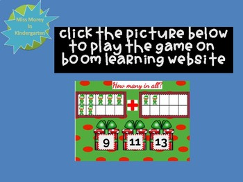 Holiday Themed Addition to 10 Digital Self Checking Boom Cards