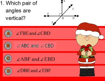 Holiday Themed Angle Pairs and Angle Relationships ActiVote