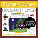 Holiday Themed Barrier Games Speech Therapy