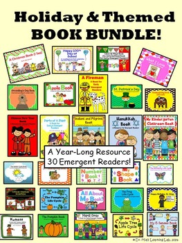 Holiday & Themed Book BUNDLE (31 Emergent Readers for Young Learners)