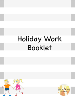 Holiday Themed Booklet