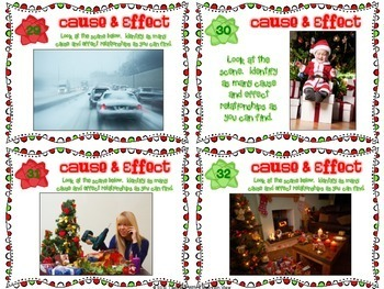 Holiday Cause and Effect Task Cards  { Winter and Christmas }