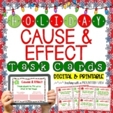 Holiday Cause and Effect Task Cards   Google Classroom