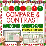 Holiday Themed Compare and Contrast Task Cards  { Winter a