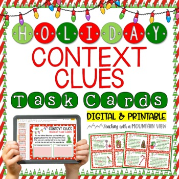 Holiday Context Clues Task Cards {Winter & Christmas}